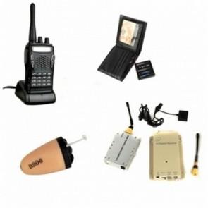 Spy Button Camera DVR - 1.2GHz Wireless Button Camera and 3W Receiver with Walkie Talkie and Spy Ear Piece