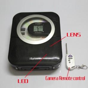 Shower Radio Camera 1280x720 Spy CD/Radio Hidden Waterproof Spy Camera 16GB 720P HD DVR (Motion Detection)