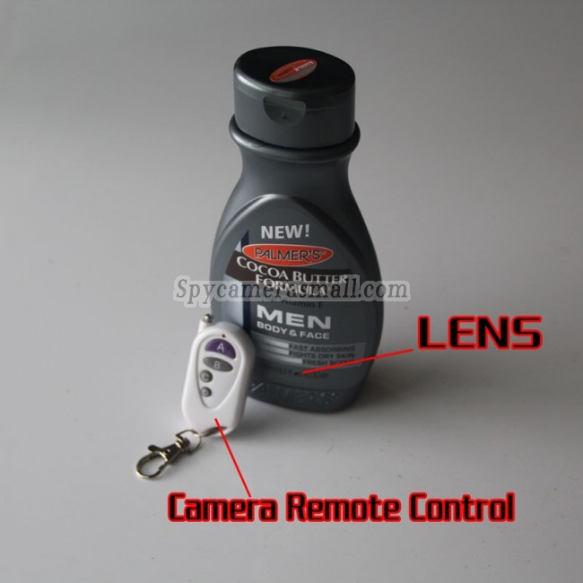 High Resolution Digital Spy Shower's gel Bottle Hidden Camera 32GB